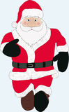 Santa Claus. Figure of a walking Santa Claus. It is very traditionally held Royalty Free Stock Photos