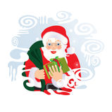 Santa Claus. Vector illustration in AI-EPS8 format Royalty Free Stock Photography