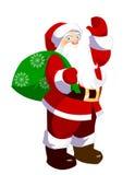 Santa Claus. Cartoon Santa Claus isolated on white.  illustration