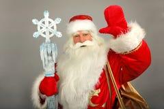 Santa Claus. Christmas Santa Claus  on a grey Stock Images