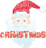 Santa Claus. With red hat Royalty Free Stock Photography