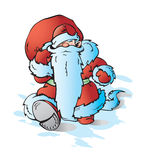 Santa claus. With a bag of gifts. Preview  illustration Royalty Free Stock Photos
