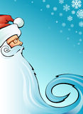 Santa claus. Blue background. Vector illustration Stock Photography