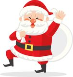 Santa Claus with bag. stock illustration