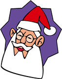 Santa Claus. Color cartoon artwork line-art vector illustration