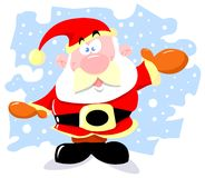 Santa claus. And snowflakes greeting card vector illustration