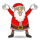 Santa Claus. Happy Santa Claus smiling and saying hi to everyone Royalty Free Stock Photo