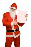Santa Claus. With Business card stock photography
