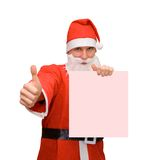 Santa Claus. & business card (Clipping Path royalty free stock photography
