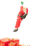 Santa claus. On a white background stock photography