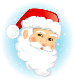 Santa Claus. Face of Santa Claus  illustration isolated Royalty Free Stock Images
