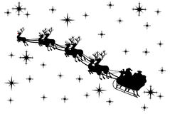Santa Claus. Driving in a sledge Royalty Free Stock Images