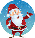 Santa Claus. In snow background Stock Images
