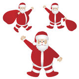 Santa Claus. Set of three Santa Claus illustrations isolated on white background.EPS file available royalty free illustration