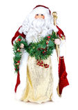 Santa claus. A toy Santa Claus isolated on white background Royalty Free Stock Image