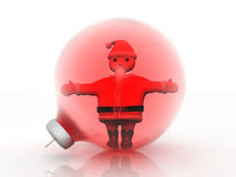 Santa claus. In a Christmas ball Royalty Free Stock Photography