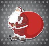 Santa Claus. Label stick of Santa Claus Royalty Free Stock Images