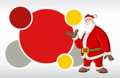 Santa Claus. Red template with Santa Claus Stock Image