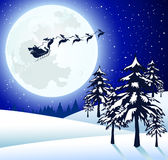 Santa Claus. In the stars on Christmas Eve Stock Photography