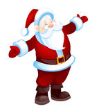 Santa Claus. Cartoon Santa Claus isolated on white.  illustration Royalty Free Stock Photography