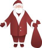 Santa Claus. On Christmas Card Stock Image