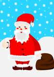 Santa Claus. Illustration of Santa Claus with sack full of presents Royalty Free Stock Image