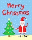 Santa Claus. On Christmas Card Royalty Free Stock Photo
