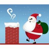 Santa Claus. Illustration of santa claus with his bag Royalty Free Stock Images