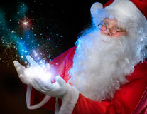 Santa Claus. Over black background Royalty Free Stock Images