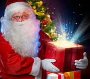 Santa Claus. Over black background Stock Image