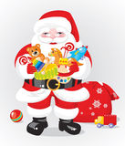 Santa Claus. With gifts - toys Royalty Free Stock Photography