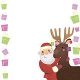 Santa Claus. Bright  Christmas illustration with Santa Claus Royalty Free Stock Photography