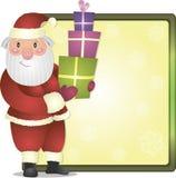 Santa Claus. Bright vector Christmas illustration with Santa Claus Stock Image