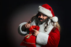 Santa Claus. With a list of gifts Royalty Free Stock Photos