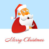 Santa Claus. Above a white background Royalty Free Stock Photo