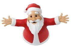 Santa Claus. 3d image with work path Royalty Free Stock Photography