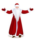 Santa Claus. Wishes you a Happy New Year and Merry Christmas Royalty Free Stock Photos