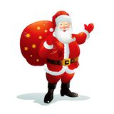 Santa Claus. With a big bag of gifts. Vector AI EPS 10 file Royalty Free Stock Photo