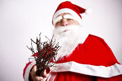 Santa Claus. Is holding accessory Royalty Free Stock Photo
