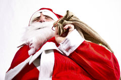 Santa Claus. Is holding accessory Royalty Free Stock Images
