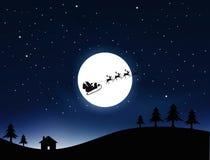 Santa Claus. Illustration of santa claus coming to house Stock Photo