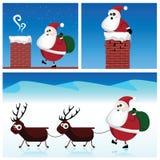 Santa Claus. Set of Santa Claus illustrations Stock Photo
