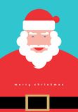 Santa Claus. Christmas greeting card with Santa Claus Cartoon Stock Photos