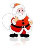 Santa Claus. Cute Santa Claus Illustration  / Clipart with Gift bag Stock Images