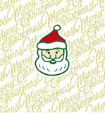 Santa Claus. Illustration with Santa Claus and Christmas Background Stock Photography