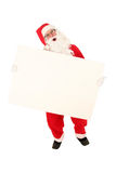 Santa Claus. Holding blank billboard Royalty Free Stock Photography