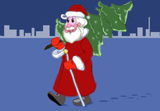 Santa Claus. Figure made ​​for a card or a website Stock Images