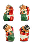 Santa Claus - 4 different angles Royalty Free Stock Images