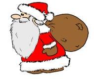 Santa Claus. Drawing of Santa Claus Royalty Free Stock Images