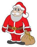 Santa Claus. With gifts - vector illustration Royalty Free Stock Photos